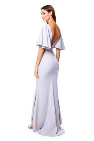 Adora Maxi Dress with Bell Sleeves and Open Back