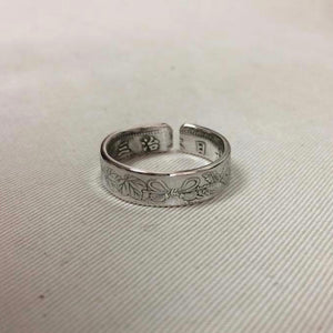 Old Japan Coin Silver Ring