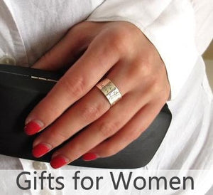Gifts for her - personalized bracelets, rings, necklaces for womens