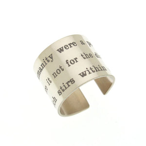 Personalized Wide Band Ring