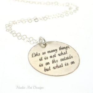Motivation gift - Inspirational necklace