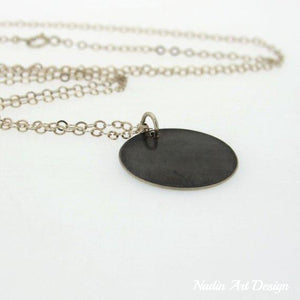Gothic necklace dark pendant