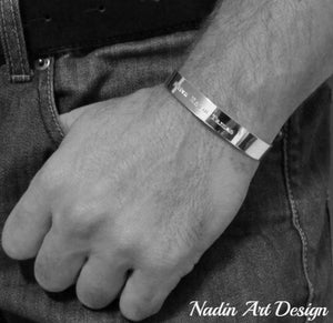Classic silver band bracelet
