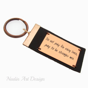 Quote text key chain