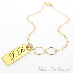 Gold Personalized Infinity Bracelet