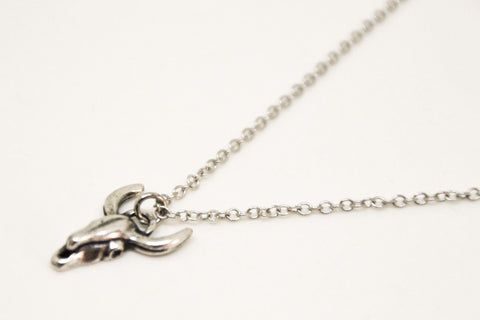 Bull's head stainless steel chain necklace for men