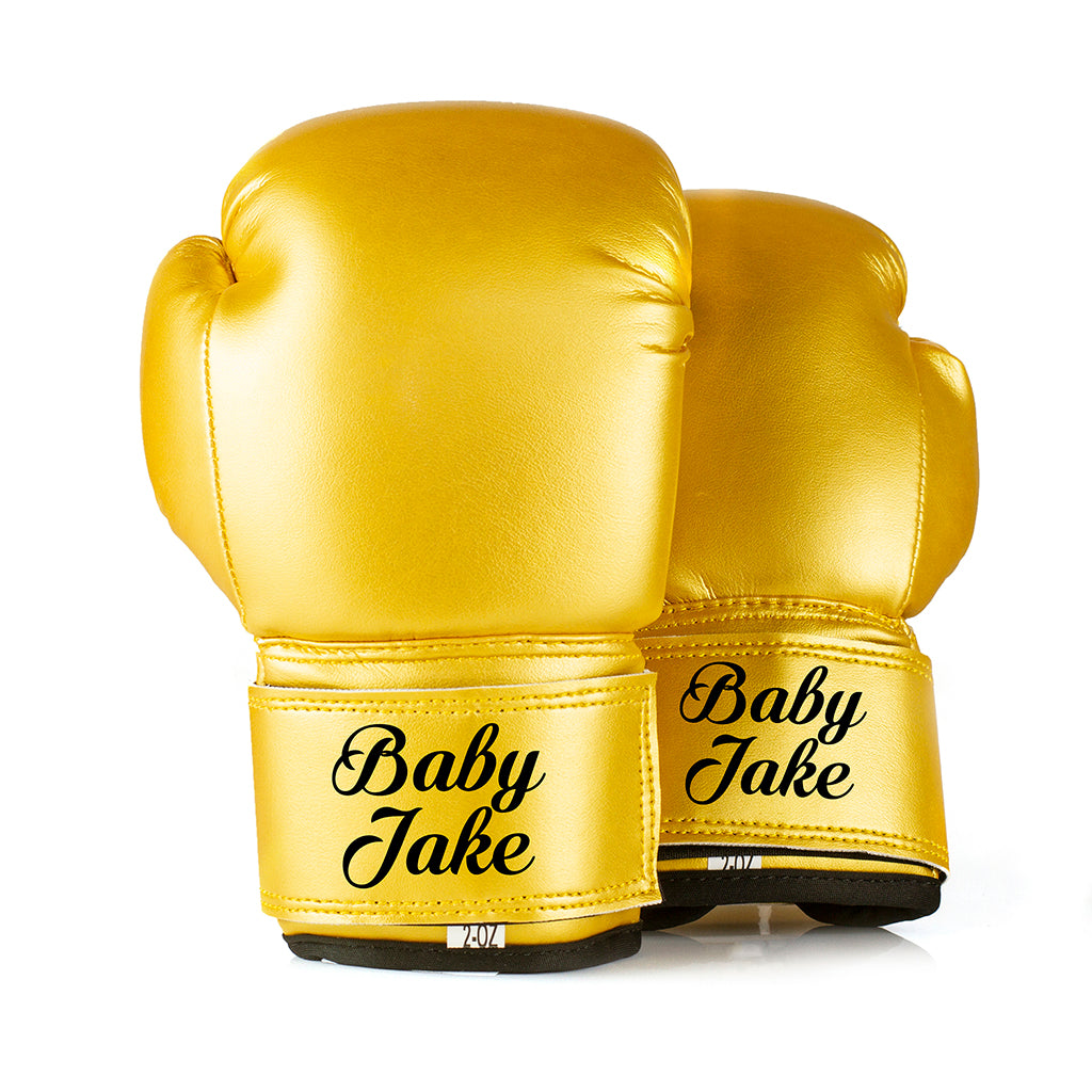 Personalised Baby Boxing Gloves - Gold