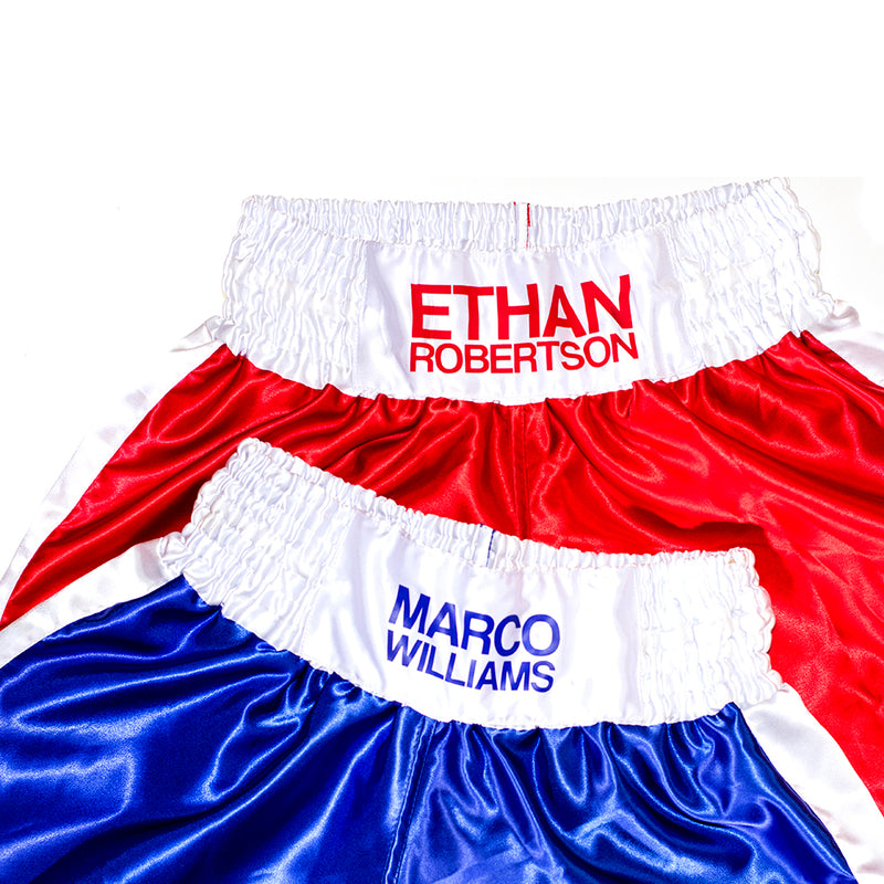 Personalised Boxing Shorts - Red Kids