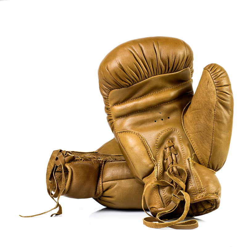 Full Grain Leather Vintage Traditional Boxing Gloves