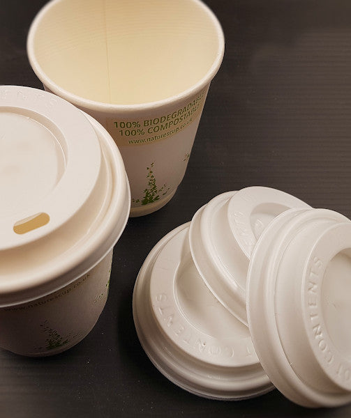 Compostable Biodegradable Takeaway Cup Lids 8oz 12oz