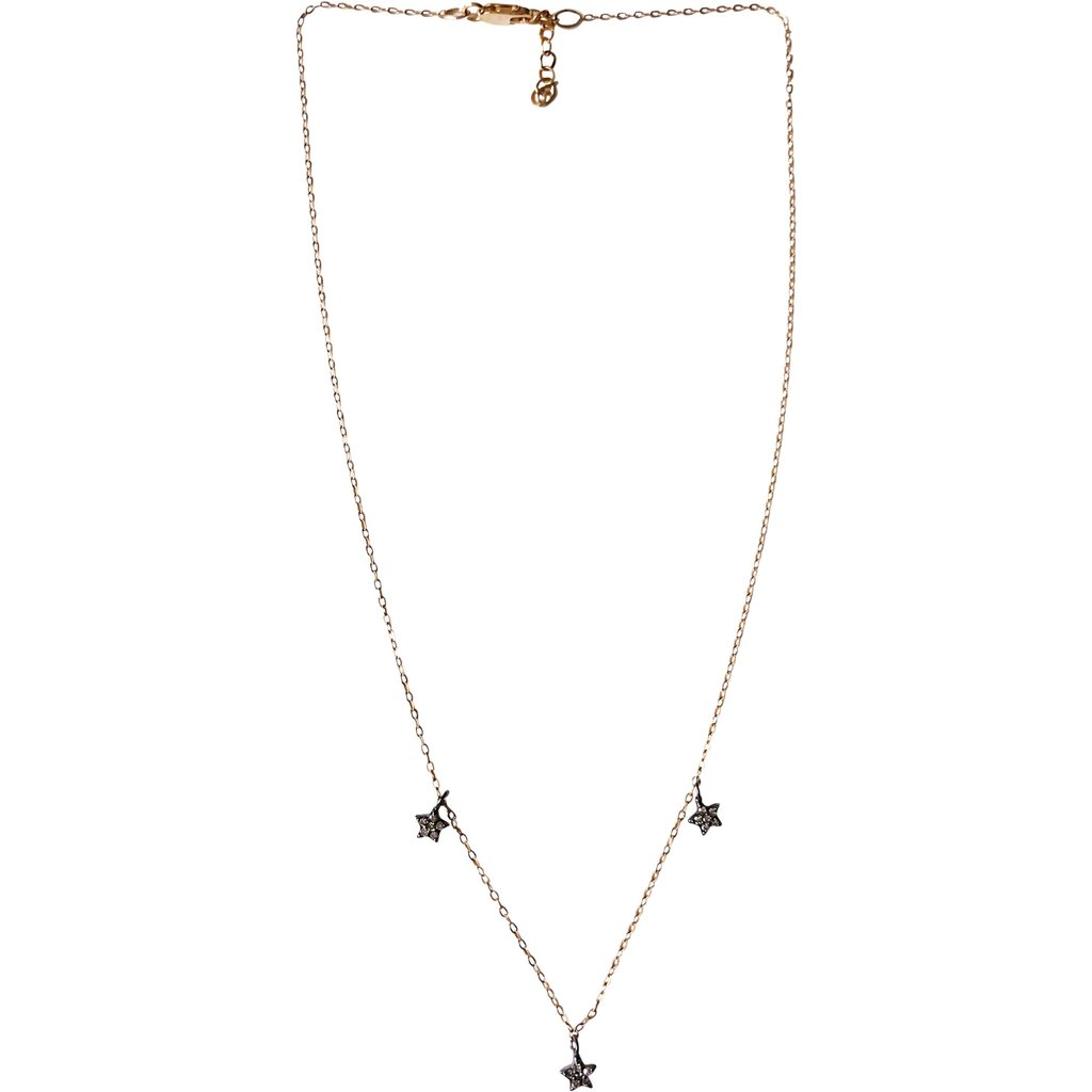 Tiny Diamond Pave Stars and Gold Choker