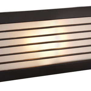 Black Opal Glass Brick Light - with Louvre