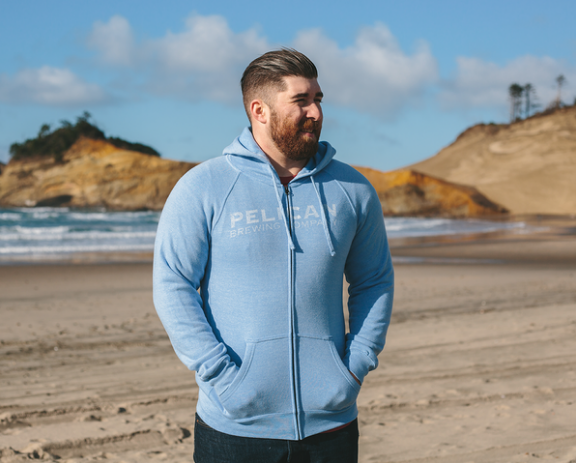 Light Blue Special Blend Zip Hoodie - Unisex