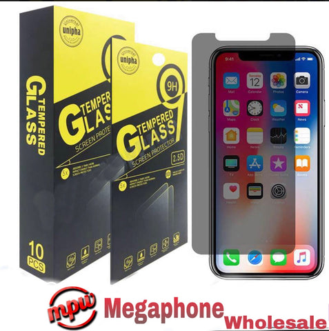 9H Premium Privacy Tempered Glass Anti Spy Screen Protector For iPhone ( Pack of 10)
