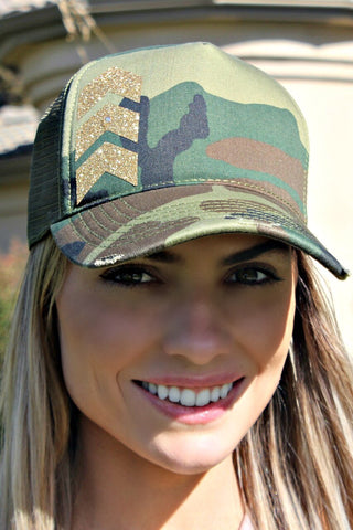 Chevron Arrow and Camouflage Hat