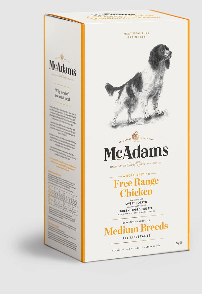 Mcadams British Free Range Chicken For Medium Breed Dogs