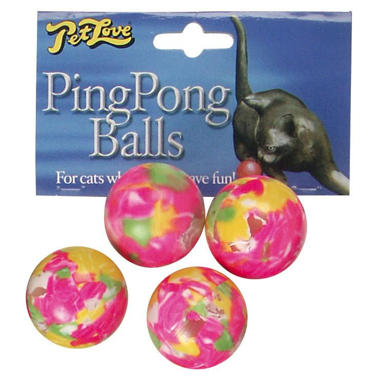 Cats Favourite - Ping Pong Balls 4 pk