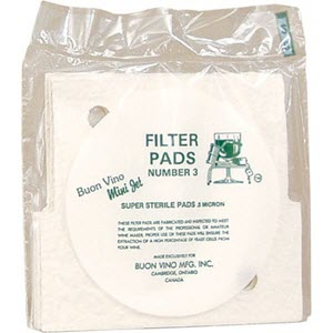 Buon Vino Mini Jet Filter Pads - Sterile (#3) 10 Pack