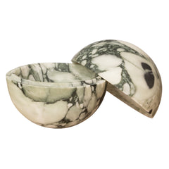 Large Green Swirl Marble Sphere Box