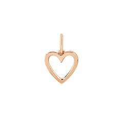 Gold Open Heart Pendant by EF Collection for Broken English Jewelry