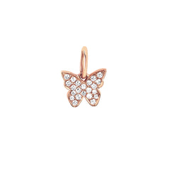 Diamond Butterfly Pendant by EF Collection for Broken English Jewelry