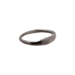 Small Silver Stacking Ring by James Colarusso for Broken English Jewelry