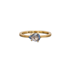 Gold & Sapphire Pavo Ring by Michelle Fantaci for Broken English Jewelry