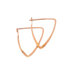 Gold Triangle Hoop by Melissa Joy Manning for Broken English Jewelry