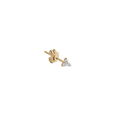Diamond Prong Trinity Stud by Maria Tash for Broken English Jewelry
