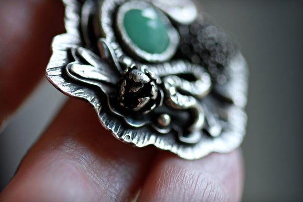 Emerald Serpent Seer Necklace. 2