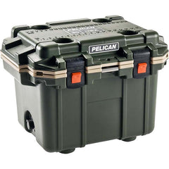 Pelican™ 30QT Elite Cooler - Green/Tan  30Q-2-ODTAN
