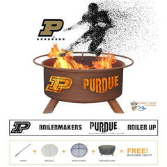 Purdue Boilermakers Steel Fire Patina College Fire Pit