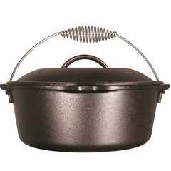 Lodge 10in Cast Iron Dutch Oven Pre-Seasoned 5-Quart L8DO3