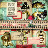 Woodland Wings - Printable Journal Kit