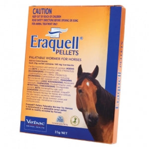 VIRBAC ERAQUELL PELLETS PALATABLE WORMER FOR HORSES 35G