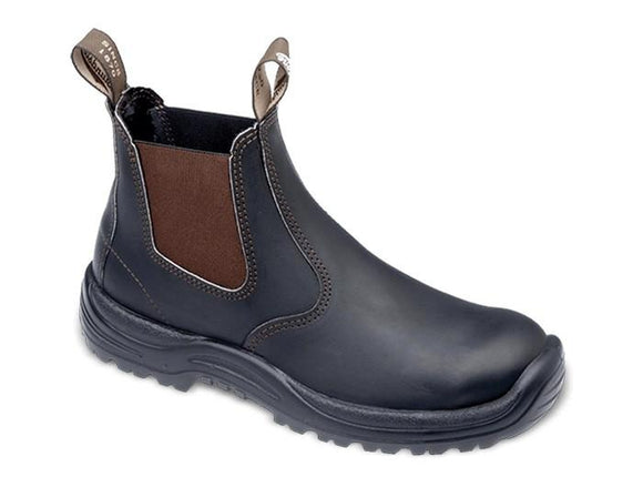 BLUNDSTONE 490 STOUT BROWN S6.5 NON SAFETY PU TPU ELASTIC SIDED