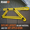 RAK Ultimate Template Tool Angle-izer with Adjustable Ruler Measures All Shapes, Forms and Angles - RAK Pro Tools