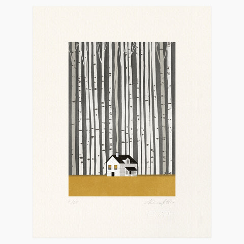 Shout (Alessandro Gottardo) / Untitled (House in the Woods)