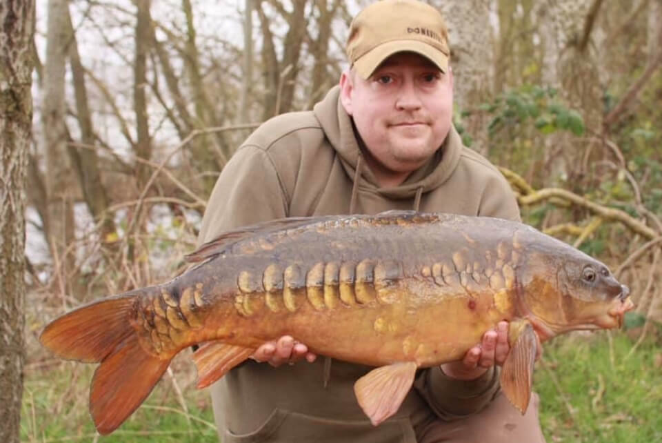 Paul Brown with his first Carp of 2019