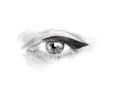 No.2 </br> Stick on eyeliners </br>matte black - winged shape