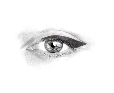 No.10 </br> Stick on eyeliners </br>dark grey - winged shape