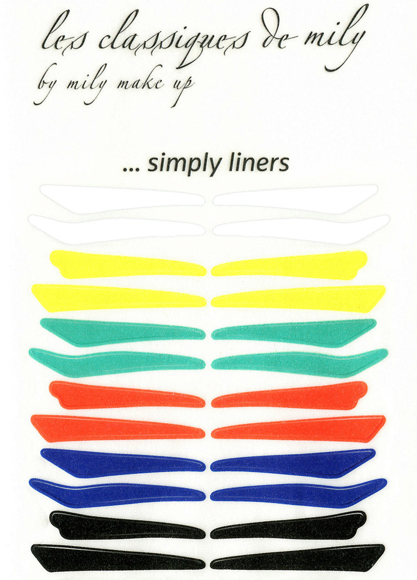 No.22 </br> Stick on eyeliners </br> bright colors - 4 shapes