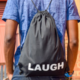 Drawstring Bag Laugh | www.iiilovelocal.com