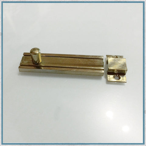 75mm Flat Brass Cupboard Door Bolt