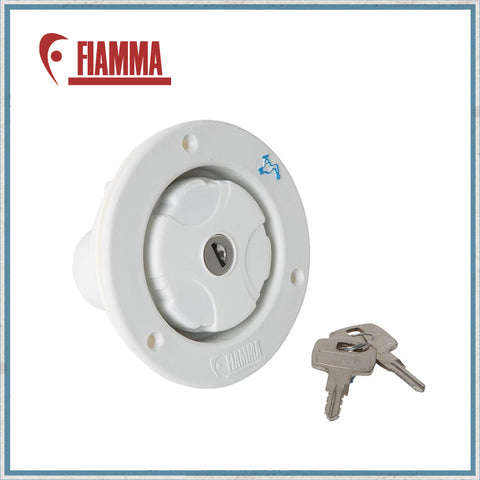 Fiamma Lockable Water Filler - white