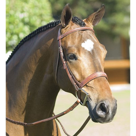 Pessoa - Fancy Wide Show Bridle With Laced Reins - Quail Hollow Tack