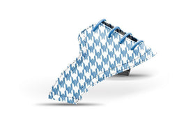 Women's houndstooth azure blue saddles lonely saddle view from Jack Grace USA