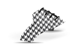 Women's houndstooth black saddles lonely saddle view from Jack Grace USA