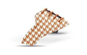 Women's houndstooth burnt orange saddles lonely saddle view from Jack Grace USA