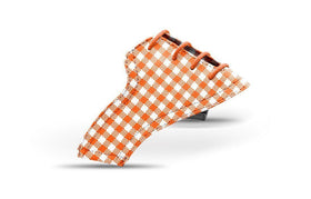 Women's orange gingham saddles lonely saddle view Jack Grace USA
